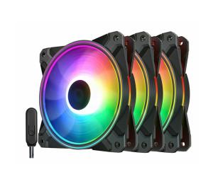 Case Fan: Deepcool CF120 Plus RGB PWM 1800RPM 120mm (3 Fans)