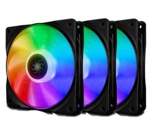 Case Fan: Deepcool CF120 RGB PWM 1500RPM 120mm (3 Fans)