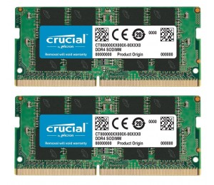 Laptop RAM: Crucial SO-DIMM 2×8GB=16GB DDR4 2666MHz CL16